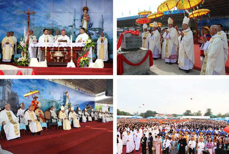 Quá trình xây dựng Vương Cung Thánh Đường Đức Mẹ La Vang (Khởi công – 15.01.2014)