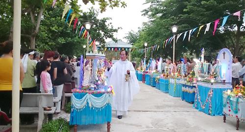 Khai mạc tháng hoa tại Trung tâm hành hương Mẹ Trà Kiệu