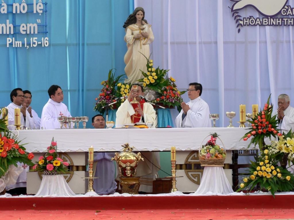 Giáo phận Đà Nẵng hành hương Mẹ Trà Kiệu đầu năm mới 2015